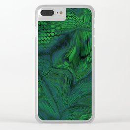 green iguana Clear iPhone Case