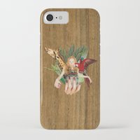 safari iPhone & iPod Cases featuring Safari  by polina stroganova collages