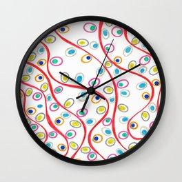 Doodle Pips Wall Clock
