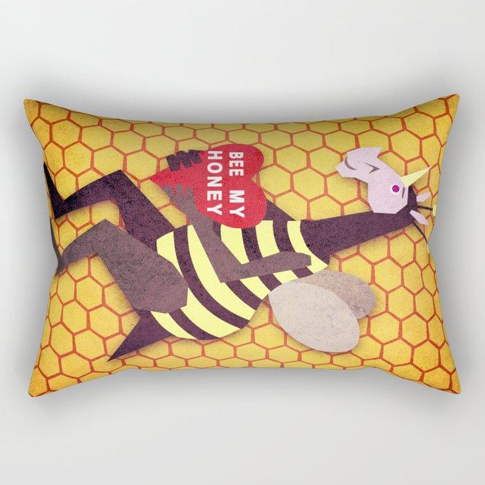 Bee My Honey Unicorn Rectangular Pillow