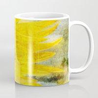 sunflower Mugs featuring Sunflower by Maria Heyens