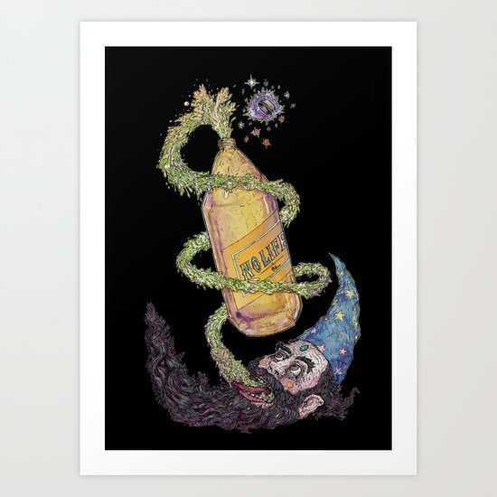 40 oz Wizard Art Print
