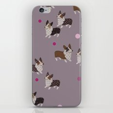 pink dot corgis iPhone & iPod Skin