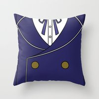 persona 4 Throw Pillows featuring Persona 4 Naoto Shirogane Jacket by Bunny Frost