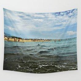 Versilia Italy Beach Ocean Coast View Horizontal Wall Tapestry