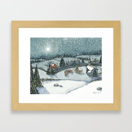 Christmas is Here Framed Art Print