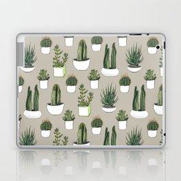 Watercolour cacti & succulents - Beige Laptop & iPad Skin