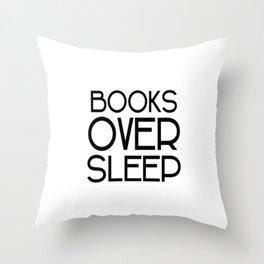 Book Over Sleep Throw Pillow