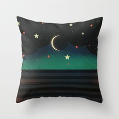 Abstract Moonscape Throw Pillow