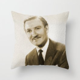 Leslie Phillips, British Actor Throw Pillow