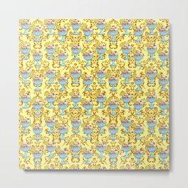 paisley yellow sundaes Metal Print