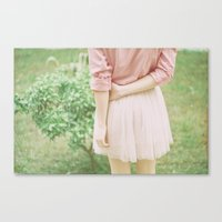 peach Canvas Prints featuring Peach by Mariam Sitchinava