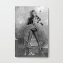 Kate Moss Retro Vintage Celebrity Silk Poster Frameless Metal Print
