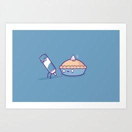 Cream pie Art Print