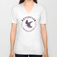 ravenclaw V-neck T-shirts featuring Ravenclaw House by Shelby Ticsay
