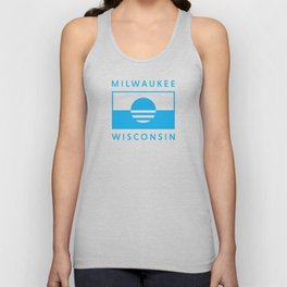 Milwaukee Wisconsin - Cyan - People's Flag of Milwaukee Unisex Tank Top