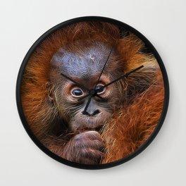 Extraordinary Animals - Orang Baby Wall Clock