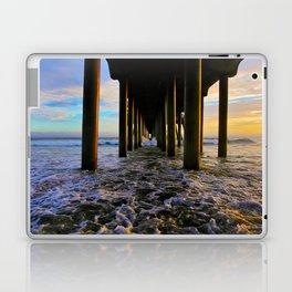 Sunset Under The HB Pier  9/1/13 Laptop & iPad Skin