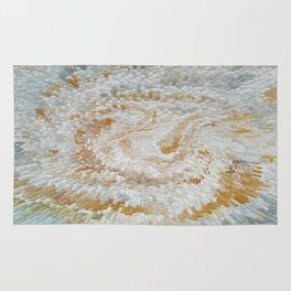 Abstract gold roses Rug