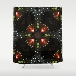 Electronic Lights Shower Curtain