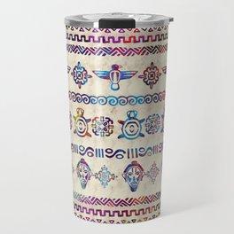 Maya / Aztec Gentle Watercolor pattern Travel Mug