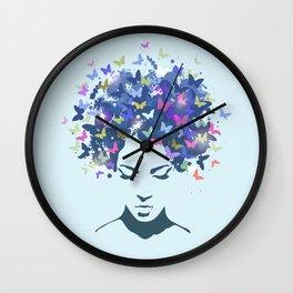 Woman Butterfly Wall Clock