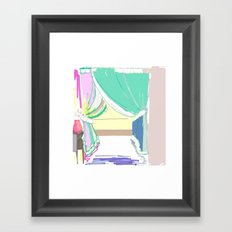 Vermont Window Framed Art Print