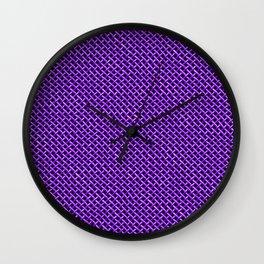 Purple Wire Mesh Pattern Wall Clock