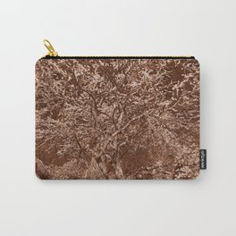 Wooden Cherry Blossom Impressions Carry-All Pouch
