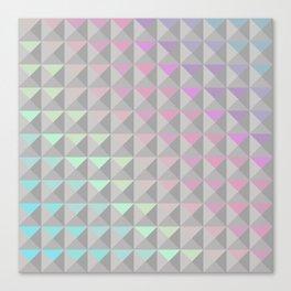 Silver Xs Canvas Print