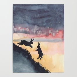 Sunset Leap Poster