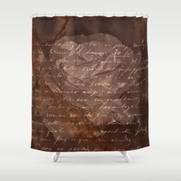 Letter and Rose I, brown edition Shower Curtain