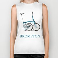 brompton Biker Tanks featuring Brompton Bike by Wyatt Design