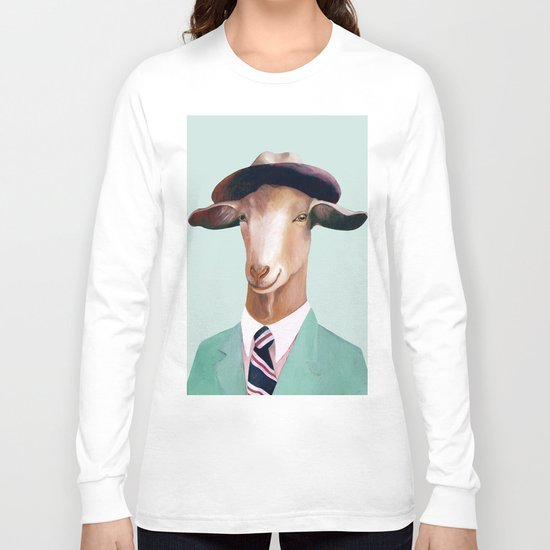 Minty Goat Long Sleeve T-shirt