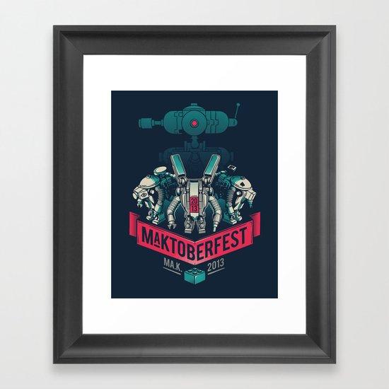 MaKtoberfest 13 Framed Art Print