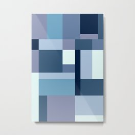 Abstract #387 Blue Harmony Metal Print