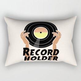 Record Holder Vinyl Rectangular Pillow