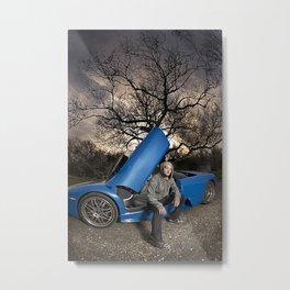 Bam Margera - Eerie tree, Blue ride Metal Print