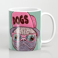 dogs Mugs featuring Dogs by Lime