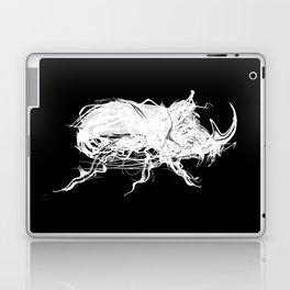 Beetle 1.  White on black background. Laptop & iPad Skin