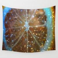 lemon Wall Tapestries featuring Magic Lemon by Vitta