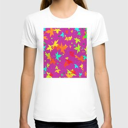 Forever Autumn Leaves purple 4 T-shirt
