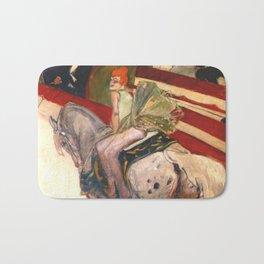 """Henri de Toulouse-Lautrec """"Equestrienne (At the Cirque Fernando)"""" Bath Mat"""