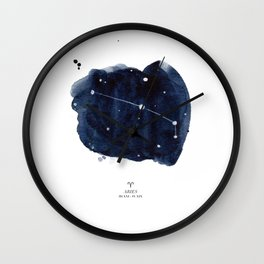 Zodiac Star Constellation - Aries Wall Clock
