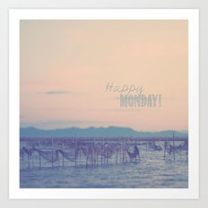 Happy Monday Art Print
