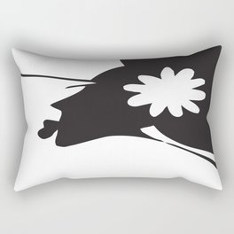 Harlem B/W Rectangular Pillow