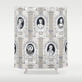 Science Women Toile de Jouy Shower Curtain