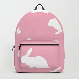 Bunny On Pink Backpack