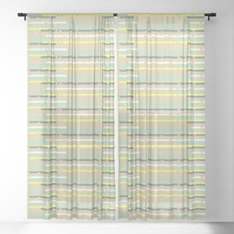 Multicolor uneven stripes Sheer Curtain