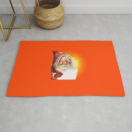 SANTA CLAUS READING A LETTER Rug